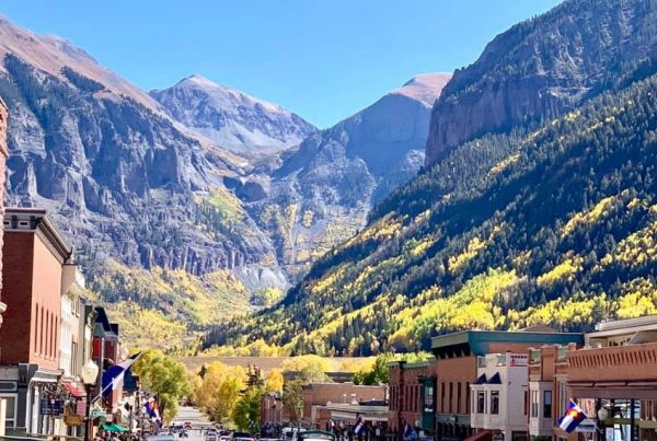 Telluride CO Main St Box Canyon Ajax Peak