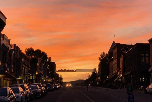 Telluride Main Street Sunset